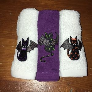 Bat cat wash cloths